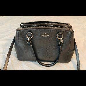 Coach platinum/silver crossbody purse